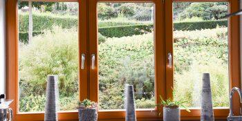 1 Gartengestaltung am Hang Åber drei Geschosse
